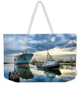 Boats On A Canal Weekender Tote Bag