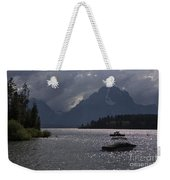 Boats On Jackson Lake - Grand Tetons Weekender Tote Bag