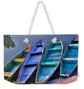Boats On River Weekender Tote Bag
