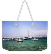Boats On The Aegean Sea 1 - Mykonos - Greece Weekender Tote Bag