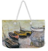 Boats On The Beach Weekender Tote Bag