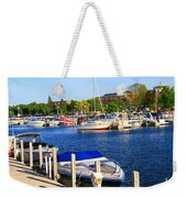 Boats On The Dock Traverse City Weekender Tote Bag