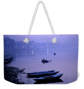 Boats On The Ganges River Weekender Tote Bag