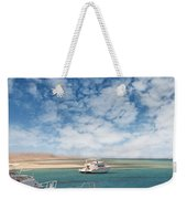 Boats On The Red Sea Coast Weekender Tote Bag