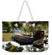 Boats On The Thames River Oxford England Weekender Tote Bag