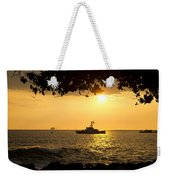 Boats Under The Hawaiian Sunset Weekender Tote Bag