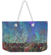 Boats W Painted Abstract Weekender Tote Bag