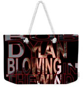 Bob Dylan Blowing In The Wind  Weekender Tote Bag by Marvin Blaine