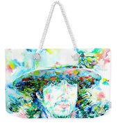 Bob Dylan - Watercolor Portrait.2 Weekender Tote Bag