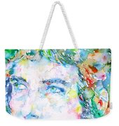 Bob Dylan Watercolor Portrait.3 Weekender Tote Bag