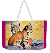 Bob Kittens Weekender Tote Bag by Phyllis Kaltenbach