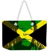 Bob Marley On Jamaican Flag Weekender Tote Bag