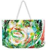 Bob Marley Watercolor Portrait.2 Weekender Tote Bag