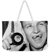 Bobby Hull Scores 50th Goal Weekender Tote Bag by Underwood Archives