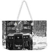 Bobcat Atv In Winter Weekender Tote Bag