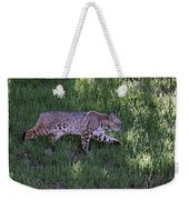 Bobcat On The Move Weekender Tote Bag