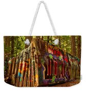 Box Car Along The Cheakamus River Weekender Tote Bag