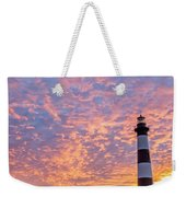 Bodie Island Lighthouse At Sunrise Vetical Weekender Tote Bag