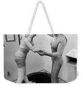 Body Wrap Exercise Weekender Tote Bag