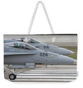 Boeing Fa-18 Hornets Of The Swiss Air Weekender Tote Bag