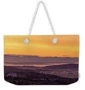 Boeing Seatac And Rainier Sunrise Weekender Tote Bag