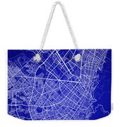 Bogota Street Map - Bogota Colombia Road Map Art On Colored Back Weekender Tote Bag