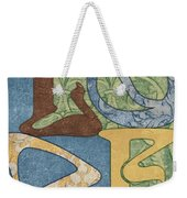 Bohemian Love Weekender Tote Bag by Debbie DeWitt