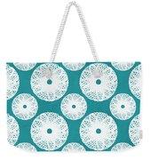 Boho Floral Blue And White Weekender Tote Bag