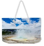 Boiling Point - Geyser Eruption In Yellowstone National Park Weekender Tote Bag