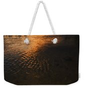 Boise River Dramatic Sunset Weekender Tote Bag