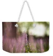 Bokeh With Purple Wildflower Weekender Tote Bag