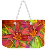 Bold And Beautiful Daylilies Weekender Tote Bag