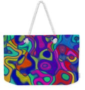 Bold Blue Abstract Decor Weekender Tote Bag
