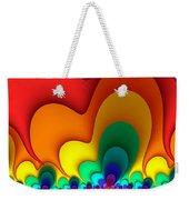 Bold Colors Fractal Weekender Tote Bag