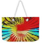 Bold Floral Hat Abstract Weekender Tote Bag