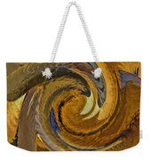 Bold Golden Abstract Weekender Tote Bag