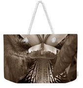 Bold Iris Sepia Weekender Tote Bag