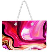 Bold Pink Abstract Weekender Tote Bag