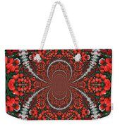 Tulips Kaleidoscope - Red And Green Weekender Tote Bag