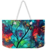 Bold Rich Colorful Landscape Painting Original Art Colored Inspiration By Madart Weekender Tote Bag by Megan Duncanson