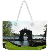 Boldt Castle Entry Arch Weekender Tote Bag by Rose Santuci-Sofranko