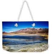 Bolivia Desert Lake Framed Weekender Tote Bag