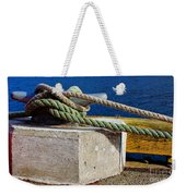 Bollard Closeup - Ropes - Mooring Lines - Wharf Weekender Tote Bag