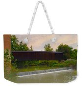Bollinger Cover Bridge Weekender Tote Bag