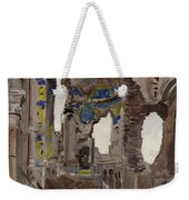 Bombed Out Interior Of Albert Church Weekender Tote Bag by Ernest Proctor