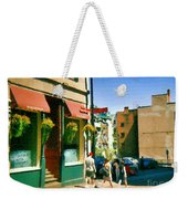 Bonaparte 4 Star Classic French Resto Vieux Montreal Paris Style Bistro Paintings Carole Spandau Art Weekender Tote Bag