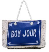 Bonjour French Street Sign Weekender Tote Bag