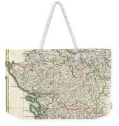 Bonne Map Of Poitou Touraine And Anjou France Weekender Tote Bag