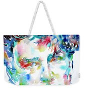 Bono Watercolor Portrait.1 Weekender Tote Bag by Fabrizio Cassetta
