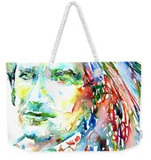 Bono Watercolor Portrait.2 Weekender Tote Bag